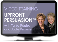 Upfront Persuasion video training
